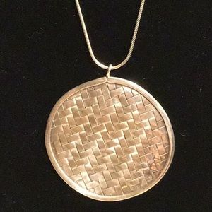 Jewelry - Thai Silver 💕 Woven Pendant on Snake Chain